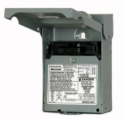 GE TFN60RCP Non-Fusible AC Disconnect Switch; 60 Amp, 240 Volt AC, 2 Pole *NEW