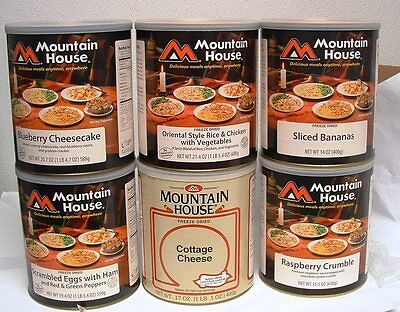 6  #10 Cans - Mountain House Freeze Dried Emergency Food Variety Pack 4