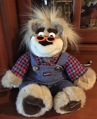 Bubba the Redneck Bear 1997 Talking Interactive Plush Teddy Tyco Works Great
