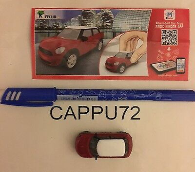 MINI BMW-AUTO ROSSA+ CARTINA FF171B  Kinder sorpresa SPRINTY 2016/17