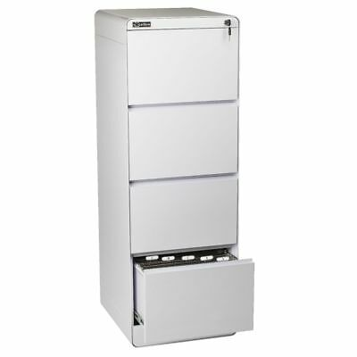 Excalibre 4 Drawer Filing Cabinet White
