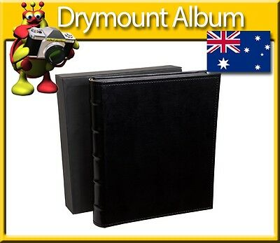Photo Album Dry Mount 40 Black Sheets 80 Pages 300mm x 365mm Page Size