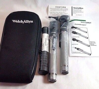 NEW Welch Allyn Pocketscope Diagnostic Set Otoscope Ophthalmoscope Pocket Scope