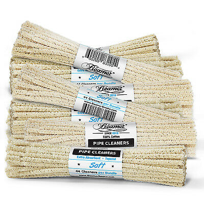 3 Bundles 132 ct Beamer Soft Unbleached Absorbent Pipe Cleaner Smoking Tobacco