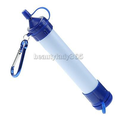 Personal Outdoor Portable Water Filter Purification System Survival Camping