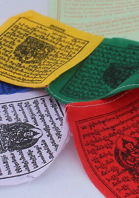 Tibetan Deities Cotton Prayer Flags for Cars and Altars