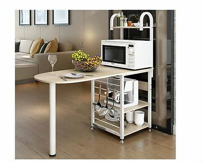 Kitchen BenchTop Island Continental Stylish Storage Shelf Bench White Cabinet