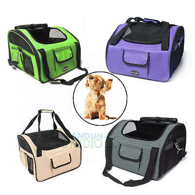 Pet Carrier Dog Cat Car Booster Seat Portable Soft Cage Travel Bag Large L/XL AU