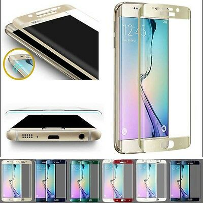Gold! 9H Full Cover Tempered Glass Screen Protector For Samsung Galaxy S6 Edge