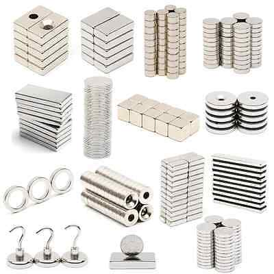 5/10/20/50 N52 Super Strong Round Block Disc Magnet Rare Earth Neodymium Magnets