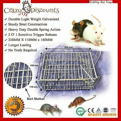 Humane Rat Trap Mouse Mice Cage Pest Bait Control Live Animal Verman Rodent New