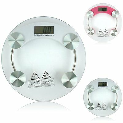 New 150kg/330lb Bathroom Personal Digital Body Weight Scale Safty Glass with LCD
