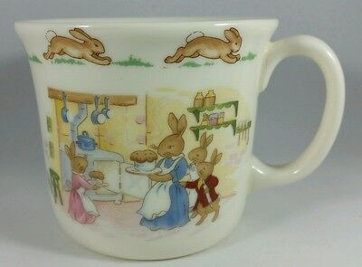 "ROYAL DOULTON VINTAGE CHINA BUNNYKINS CHILD'S CUP  3-1/2"" x 3""  BAKING DAY, MINT"