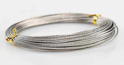 OD 1.2mmx 7x7 x 100m Strand Stainless Steel 304 Wire Rope Core Fishing Wire