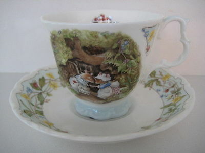 ROYAL DOULTON BRAMBLY HEDGE ENGAGEMENT DUO CUP AND SAUCER ENGLISH BONE CHINA 1st