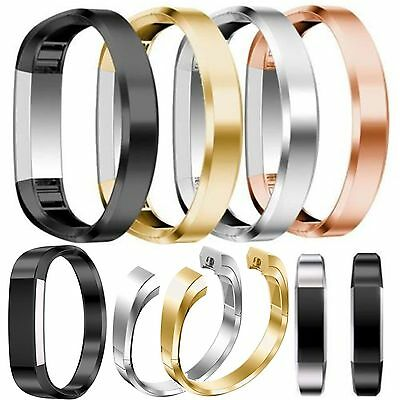 Stainless Steel Cuff  Bracelet Wristband Metal Watch Band Strap For Fitbit Alta