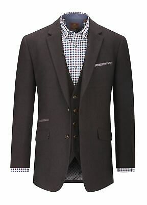 SKOPES Donegal Tweed Sports Jacket (Dalton) in Wine,Chest 44 to 62 Inches, S/R/L