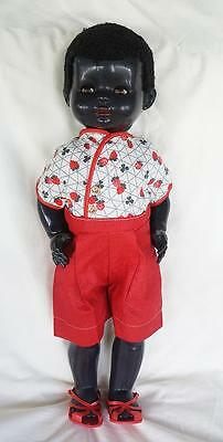 Vintage Black Pedigree Doll 21 inches Hard Plastic Factory Outfit 1950's