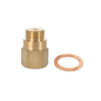 LAMBDA O2 OXYGEN SENSOR EXTENDER SPACER FOR DECAT HYDROGEN M18x1.5 BRASS