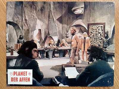 PLANET OF THE APES rare vintage German LC #1 1967 Sci-Fi classic CHARLTON HESTON