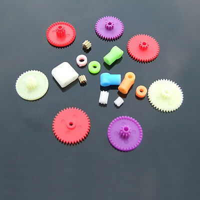 NEW Colorful 18 kinds plastic gears bag Small gear bag 0.4 modulus gear DIY Hot