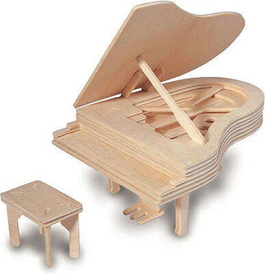 Piano Woodcraft Construction Kit - Wooden Building Model Puzzle Game 7+