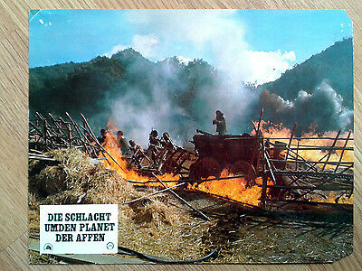 BATTLE FOR THE PLANET OF THE APES rare vintage German LC #12 1973 Sci-Fi classic