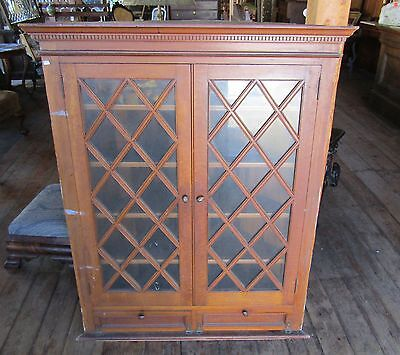 Victorian Era Quartersawn Oak Architectural Corner Cabinet