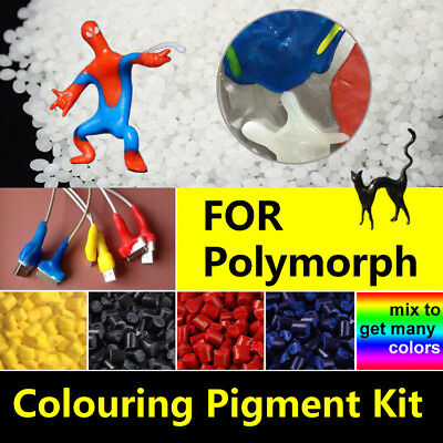Colouring Pigment Kit | for Polymorph Pellets Plastimake Moldable Thermoplastic