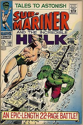 Tales To Astonish #100 - VF - Classic Sub-Mariner Vs. Hulk Battle