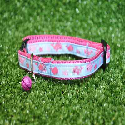 Pink Whale Seaside Cat Kitten Puppy Small Dog Collar **EXCLUSIVE**