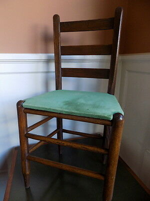 Antique Vintage Shaker Ladder Back Chair Hand Made Americana Folk Art
