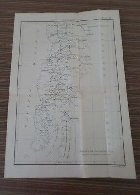 Large Map Economic Report Plate (1897-1901) Isthmian Canal Comm #77