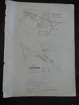 HISTORIC 1883 Map of the Plan of Chatham & Pomeroy, PA-Property Specific Detail