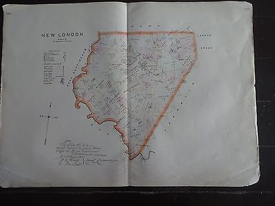 HISTORIC 1883 Map of the Township of New London, PA - Detailed Specific
