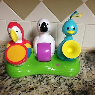 EVENFLO Exersaucer TRIPLE FUN Jungle Replacement Part Bird Parrot Band Toy