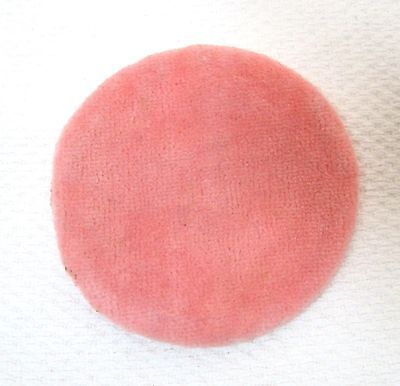 Vintage Larger Pink Soft Plush Powder Puff Tin Compact 2 7/8 inches CLEAN! M1