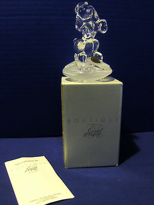J.G. Durand France Lead Crystal Poodle Paperweight MIB