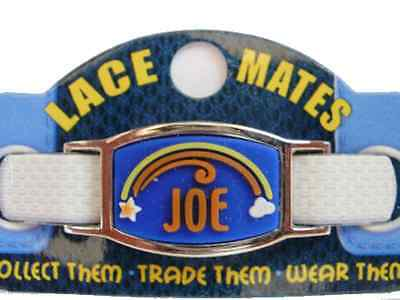 Personalised Named JOE LACE MATES For Shoelaces Jewellery Making Wristbands