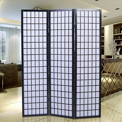 Folding 3 Panel Room Divider Screen Privacy SHOJI Movable Partition Separator