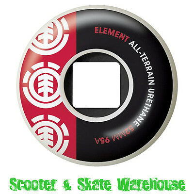 Element Section All-Terrain Skateboard Wheels 52Mm 95A Red/black - Set Of 4
