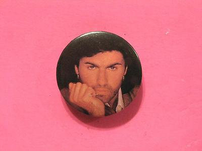 George Michael Vintage Badge Button Uk Import Wham!!!