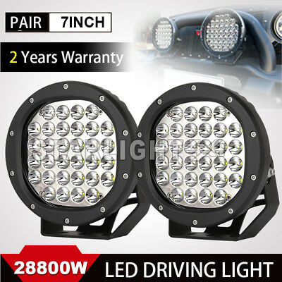 7''28800W LED Cree Driving Work light Offroad 4WD Spotlight Round HID SUV Round