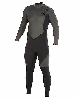NEW QUIKSILVER™  Mens Syncro 3/2MM GBS Chest Zip Steamer Wetsuit Surf