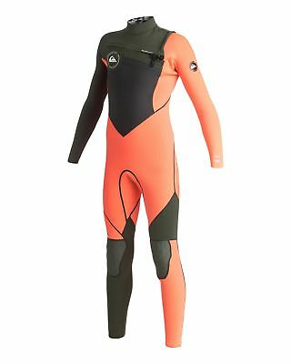 NEW QUIKSILVER™  Boys 8-16 AG47 Performance 4/3MM Chest Zip Steamer Wetsuit Boys