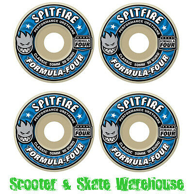 SPITFIRE Formula Four Classic Blue 99a Skateboard Wheels - CHOOSE YOUR SIZE