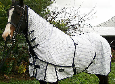 Cotton Horse Rug Ripstop Detachable Neck Combo Satin Lined 4'6 ~ 6'9