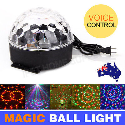 New RGB Effect DJ Light LED Stage Lighting Laser Crystal Magic Ball Disco Party