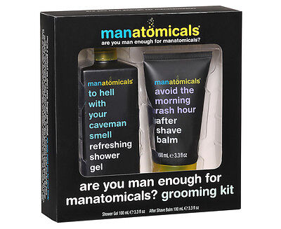 Aanatomicals Are You Man Enough for Manatomicals? 2-Piece Grooming Kit