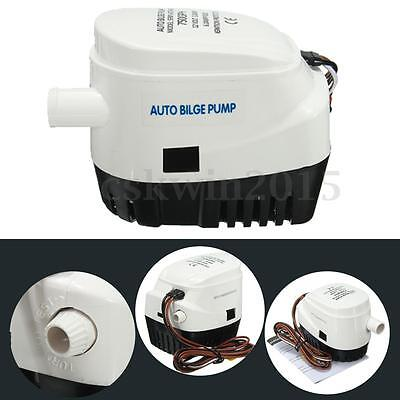 Automatic Bilge Water Pump 12V 750GPH Boat Marine Auto Submersible Built Compact